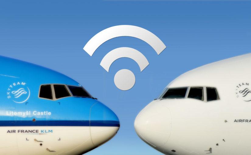 Air France a KLM rozšíří připojení k internetu na dálkových linkách